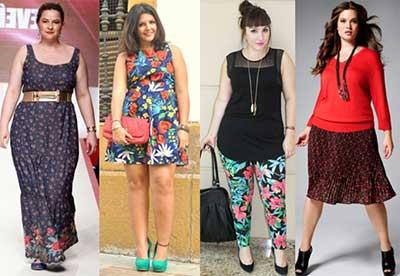 roupas floridas