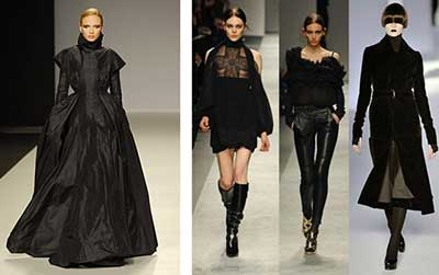 nas passarelas da moda