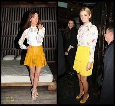 tendências de saias de cintura alta