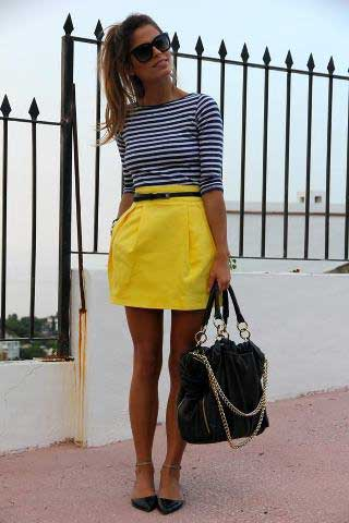 saias de cintura alta da moda