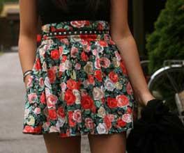 imagens de saias de cintura alta