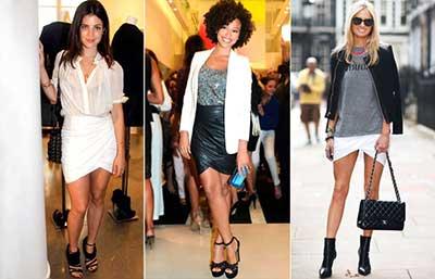 tendências de saias envelope