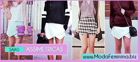 modelos de saias assimétricas