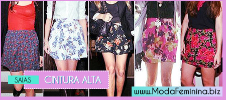 modelos de saias cintura alta