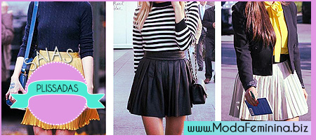 modelos de saias plissadas
