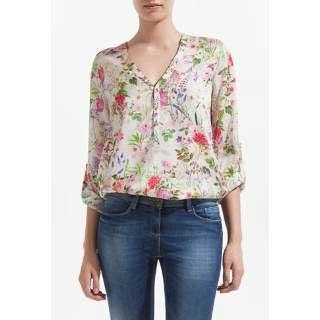 modelos de blusas de seda estampada branca   renda