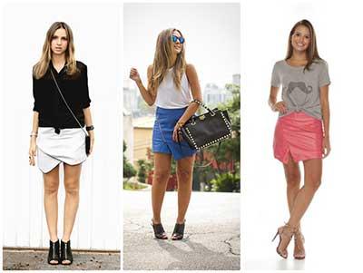 fotos de saias assimétricas