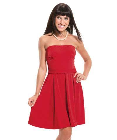 vestido vermelho feminino