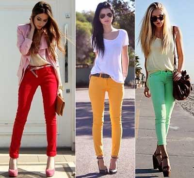 modelos de calças jeans coloridas