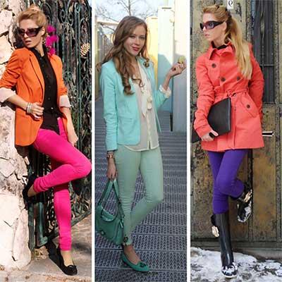 looks com calças jeans coloridas