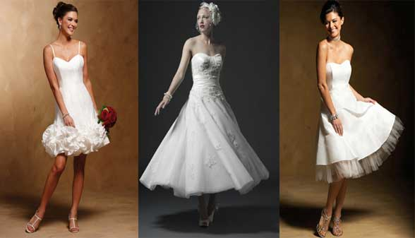 sugestões de vestidos de noiva curtos
