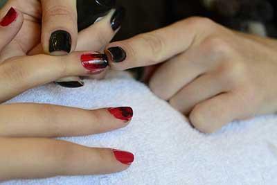 imagens de unhas com vermelho