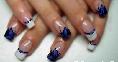 fotos de unhas com azul