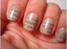 passo a passo de unhas decoradas com jornal