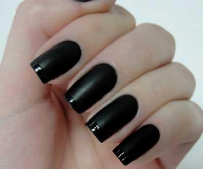 unhas na cor preta