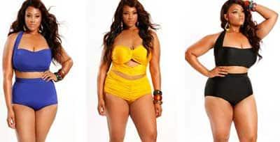 moda em biquínis femininos plus size