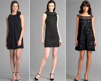 Vestido curto para festa de casamento preto