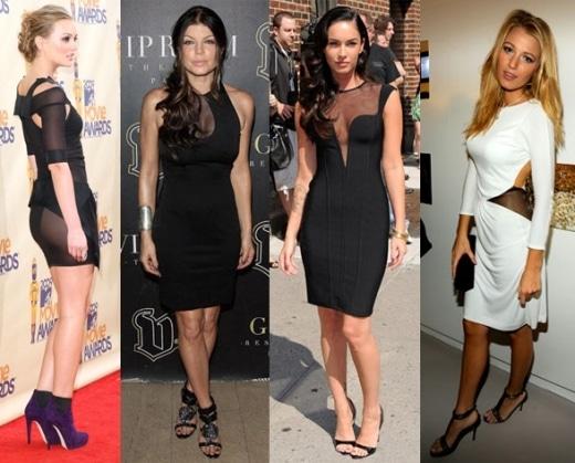 modelos de vestidos com transparência