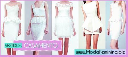modelos de vestidos curtos de casamento