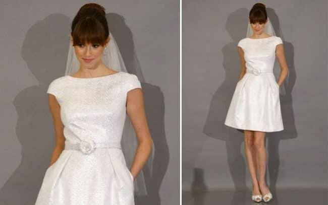 vestidos de noiva curtos da moda