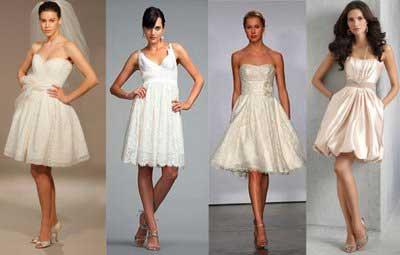 tendências de vestidos de noiva curtos