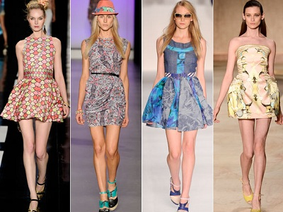 tendências de vestidos da moda 2014