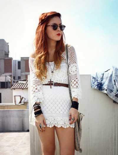 tendências de vestidos de croche