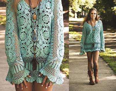 sugestões de vestidos de croche
