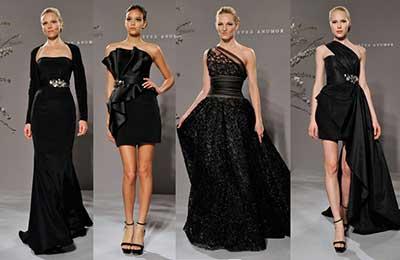 Vestido preto para casamento a noite