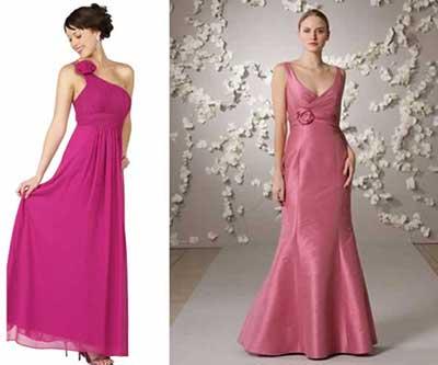 Vestidos longos para casamento rosa