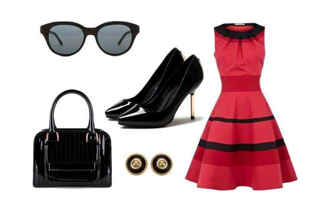 look com vestidos vermelhos