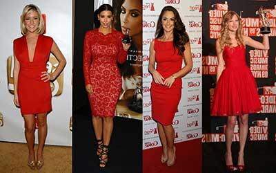 vestidos vermelhos da moda