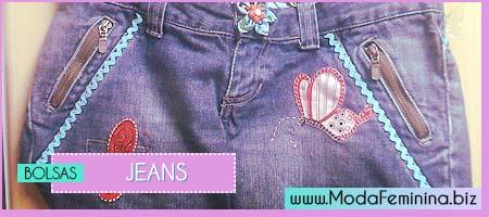 modelos de Bolsas Jeans