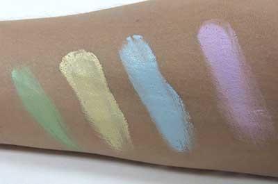 várias cores