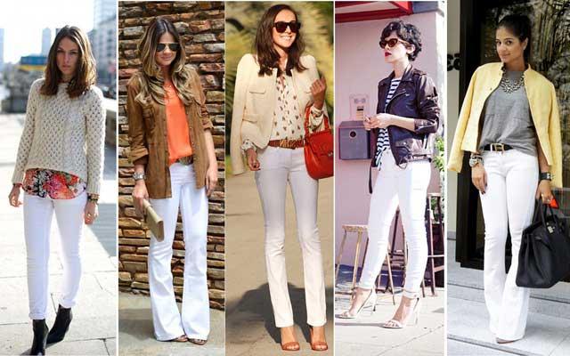 dicas de calças brancas