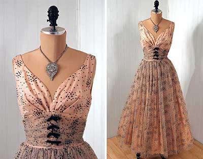 modelos e imagens de vestidos vintage