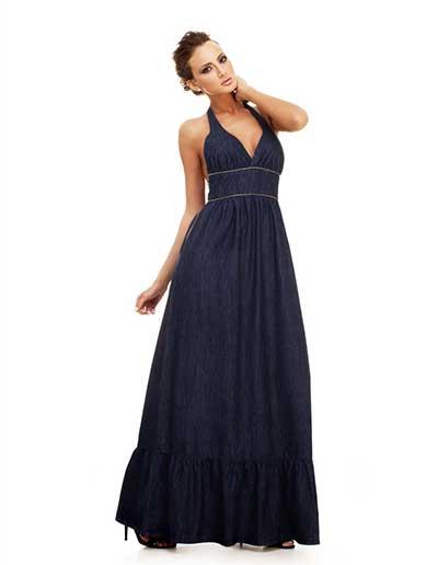 Modelos de vestidos jean para gorditas