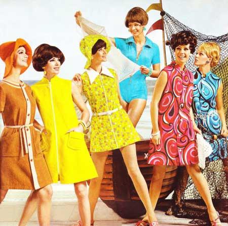 roupas da moda anos 60