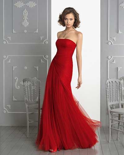 vestido todo vermelho