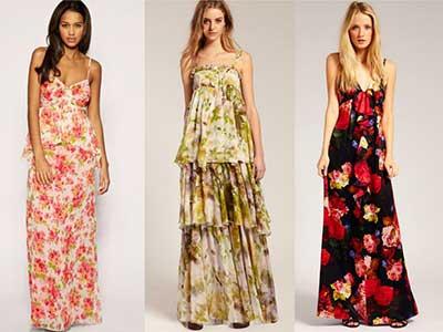tendências de vestidos com estampas