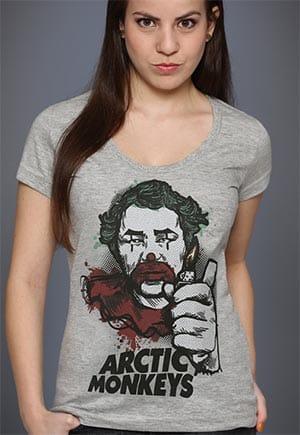 camisa feminina arctic monkeys