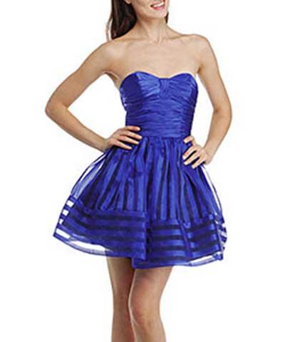 modelos de vestido azul