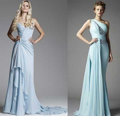 vestidos azuis da moda