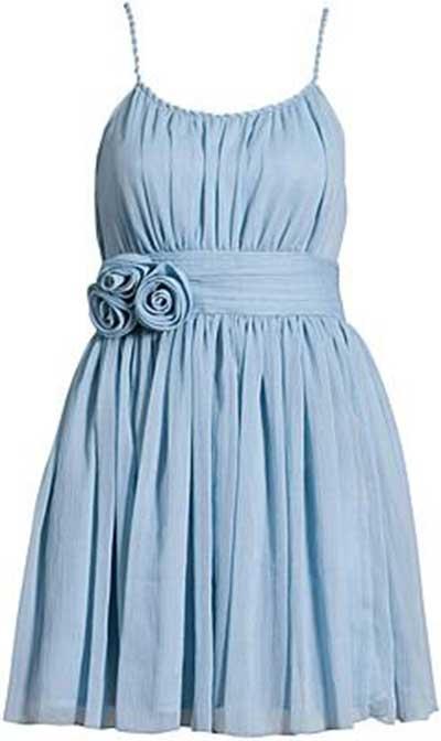 tendências de vestidos azuis