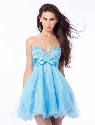 Vestidos de festa curtos azul