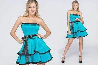 looks com vestidos azuis