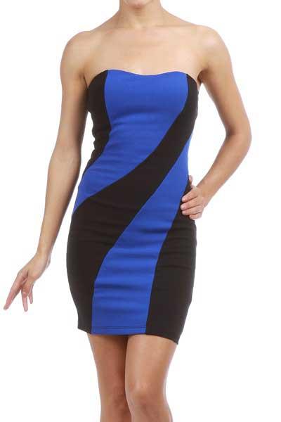 fotos de vestidos azuis