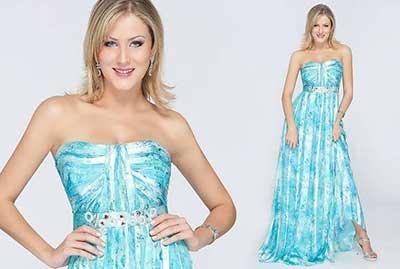 Vestido azul claro que sapato usar