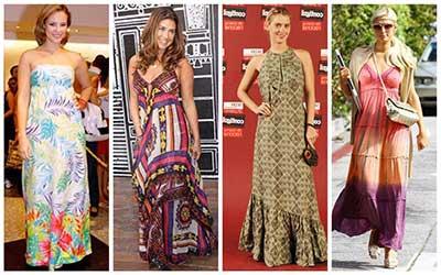 Altura da barra de vestido longo