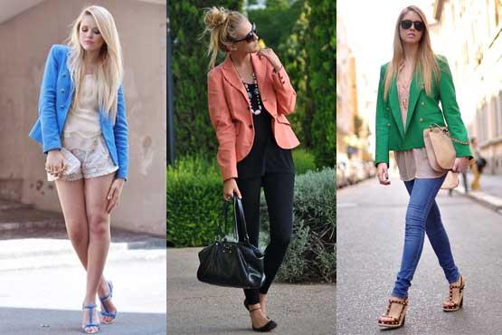 várias cores da moda